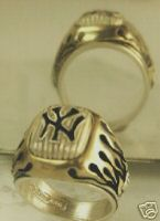 YANKEES Commemorative Signet Ring Sterling Silver Lge