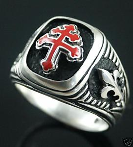 Special Forces Cross of Lorraine Battle Standard ring