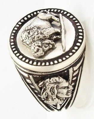 buffalo nickel mens coin ring sterling silver 925