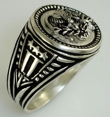 American Eagle Mens Coin ring Sterling Silver Large