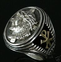 Jesus Christ Prince of Peace Gents ring Sterling Silver Lge